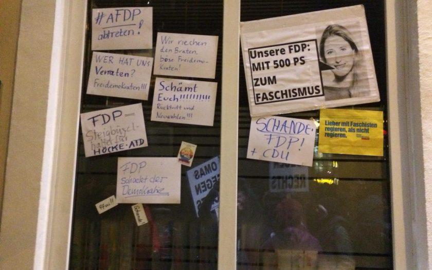 Schaufenster der FDP