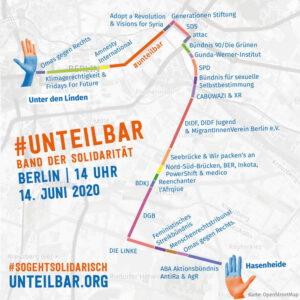 Stecke #unteilbar