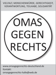 OMAS GEGEN RECHTS - FLYER HALLE